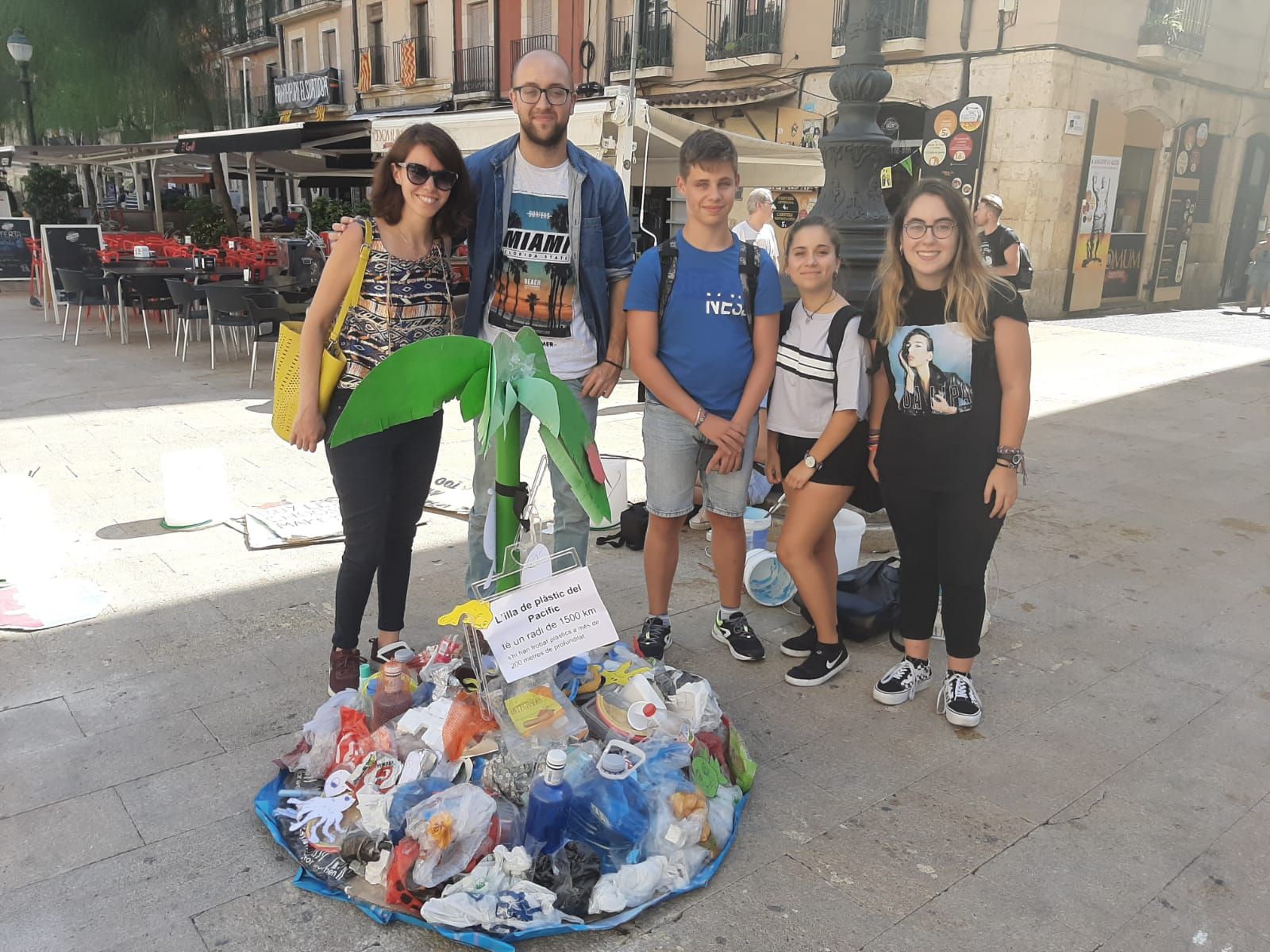 Illa de plastic de Fridays For Future